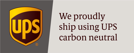 UPS We proudly ship using UPS carbon neutral
